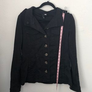 H&M Black 10 Hipster Jacket No belt tie stretch